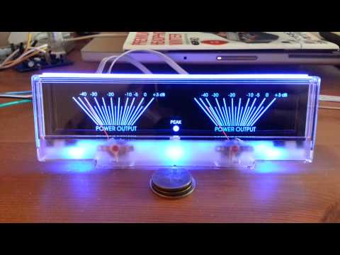 Power Amplifier Dual Analog Panel VU Meter Audio Level dB Meter W/ Blue BackLit