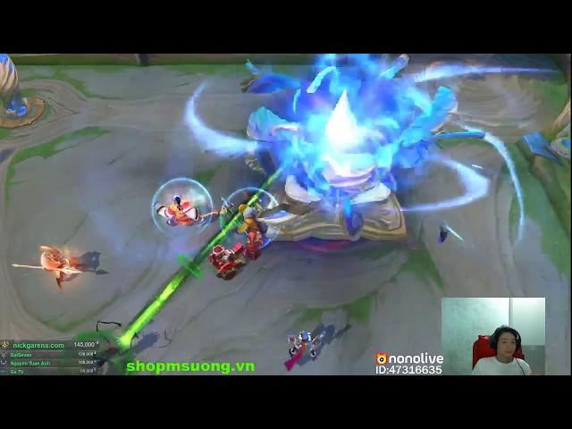 live stream liên quân _ gánh team nè chế