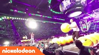 Kids' Choice Sports 2016 | Steph Curry & Klay Thompson Play Big Slime Ballers in 360 | Nick