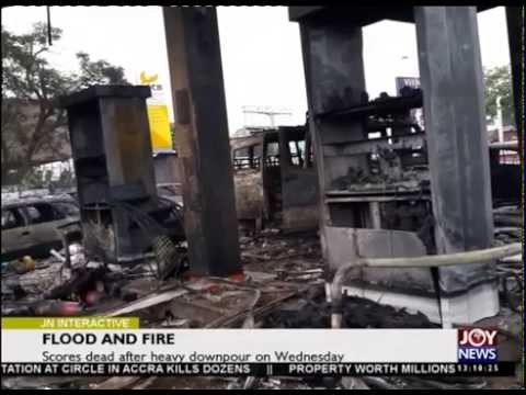 REASON WHY PETROL STATION CAUGHT UP FIRE IN ACCRA FLOOD