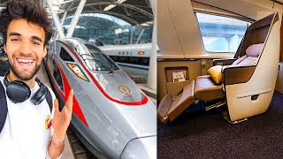 FIRST CLASS BULLET TRAIN in CHINA (All Time Greatest Train Seat)!