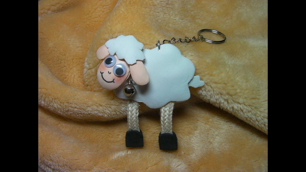 Oveja de goma eva facil youtube - Como hacer una oveja ...