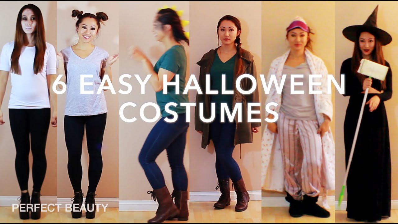 DIY Halloween Costume Ideas! PERFECT BEAUTY - YouTube  sc 1 st  YouTube & Last Minute! DIY Halloween Costume Ideas! PERFECT BEAUTY - YouTube