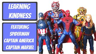 Learning about kindness with Marvel Avengers Toys - The Boflet Show - Life Club - Learning for kids