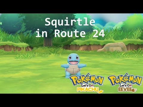 Pokemon Let's Go Pikachu/Eevee - Finding Squirtle in Route 24