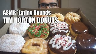 [ASMR Eating Sounds] TIM HORTON DONUTS *NO TALKING