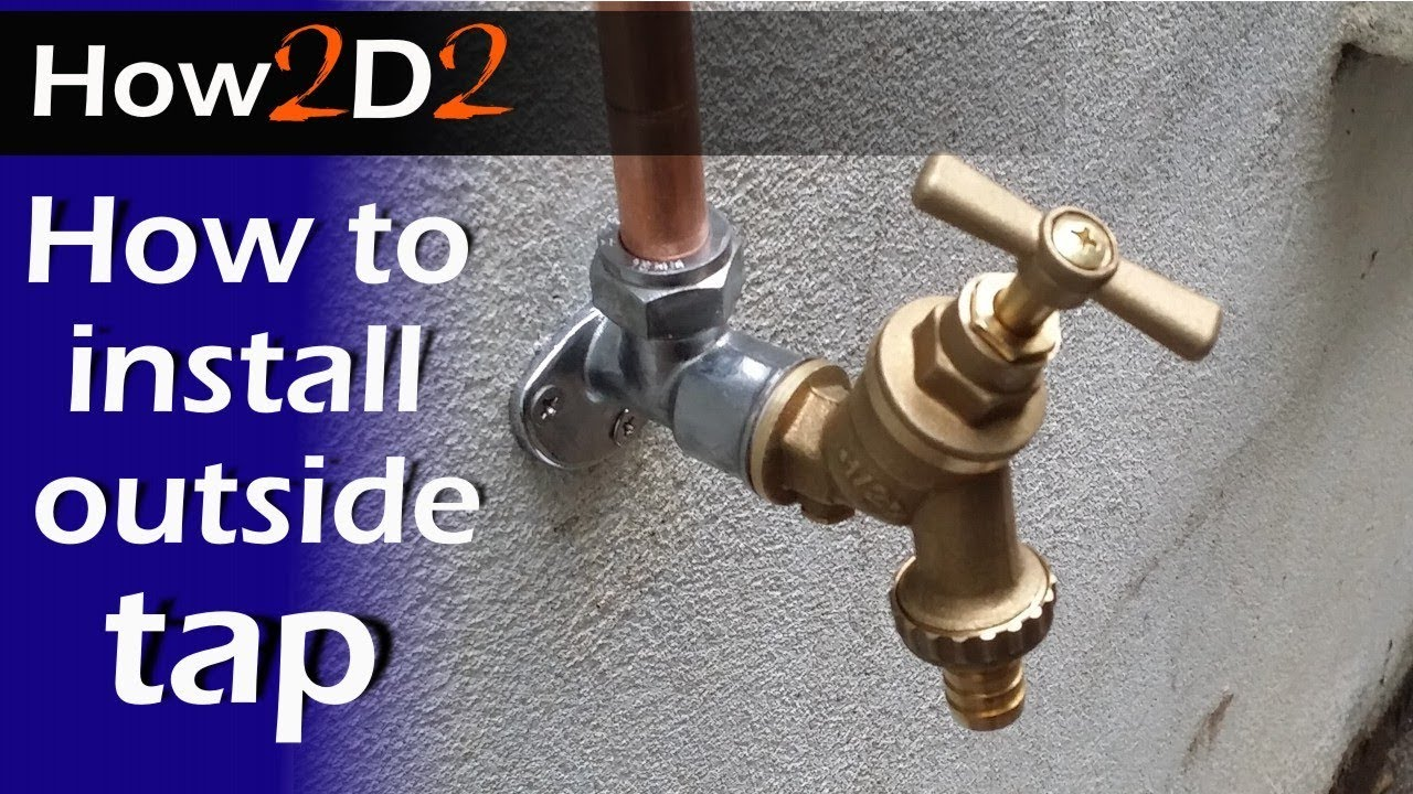How to install outside tap Fitting plumbing garden tap video - YouTube