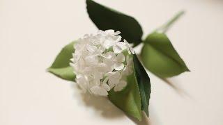 Crepe paper flowers Hydrangea Easy & Simple FULL tutorial FREE !