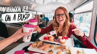 The BEST AFTERNOON TEA in LONDON! - Double Decker Tea Bus 😍(London, England) thumbnail
