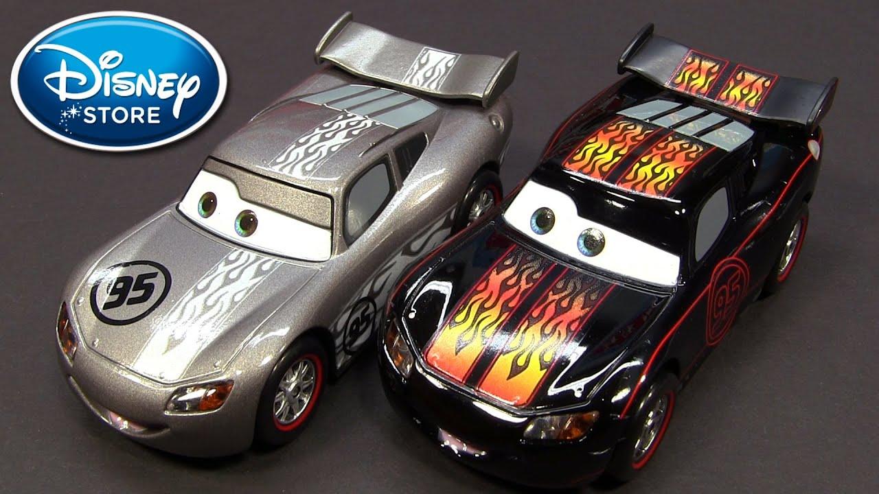 Disney Cars Diecast: Disney Pixar Cars Silver Hot Rod Lightning McQueen 2013