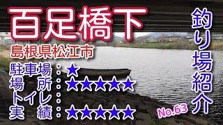 山陰釣り場紹介 part.63:百足橋下 島根県松江市
