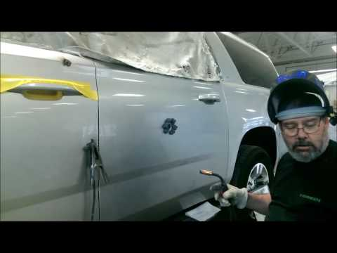 2015 chevy suburban bullet hole repair youtube. Black Bedroom Furniture Sets. Home Design Ideas