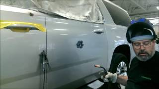 2015 Chevy Suburban Bullet Hole Repair