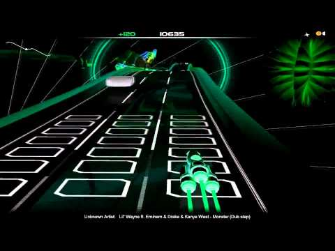 audiosurf (Lil' Wayne ft. Eminem & Drake & Kanye West - Monster (Dub step)