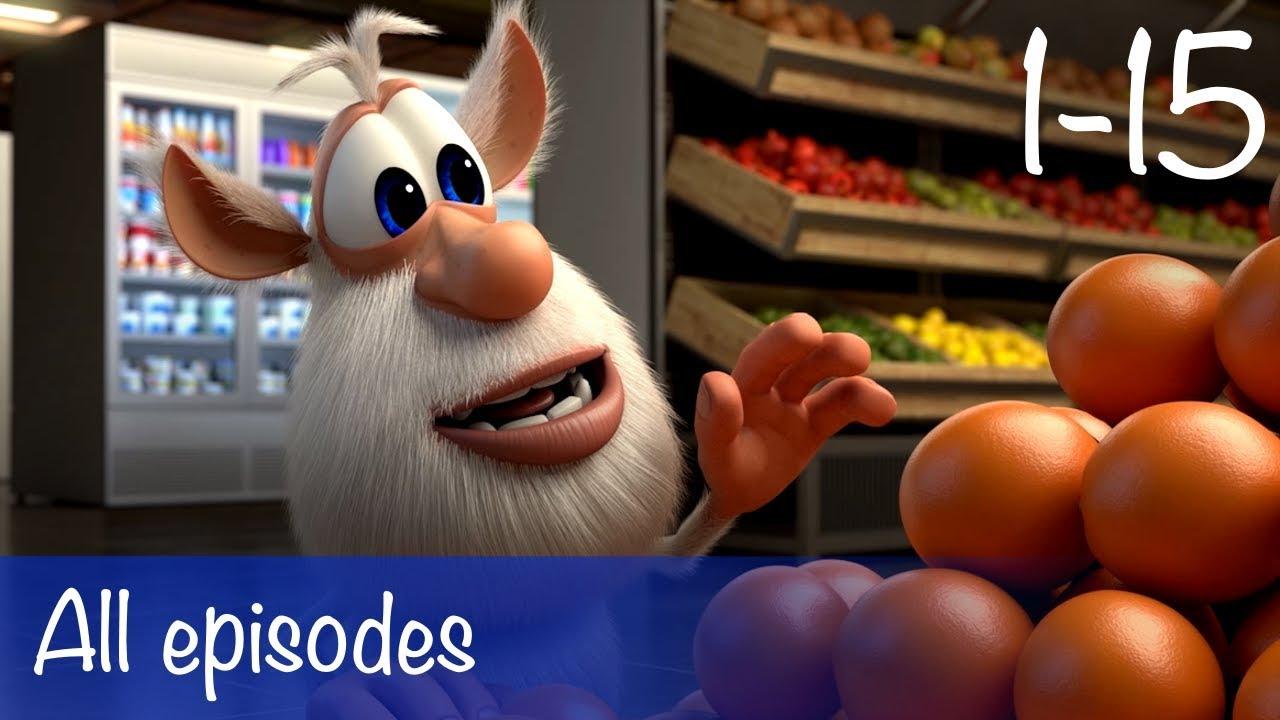 Booba compilation of all 15 episodes bonus cartoon for kids
