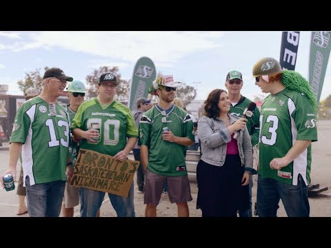 Roughriders Fans in Enemy Territory   CFL