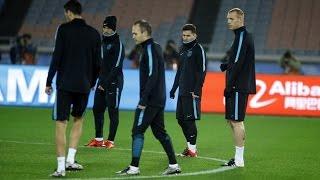 بالفيديو.. برشلونة ينهي تحضيراته للقاء بطل الصين في مونديال الأندية