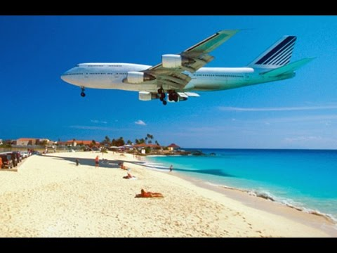 Most Dangerous Beach in the world Maho Beach - Netherlands Antilles