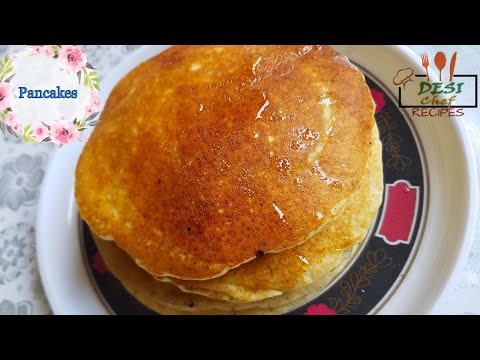 How to make pancakes without using oil or butter and baking soda