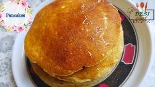 Simple and Easy Pancake Recipe ( without Butter ) || How To Make Pancakes