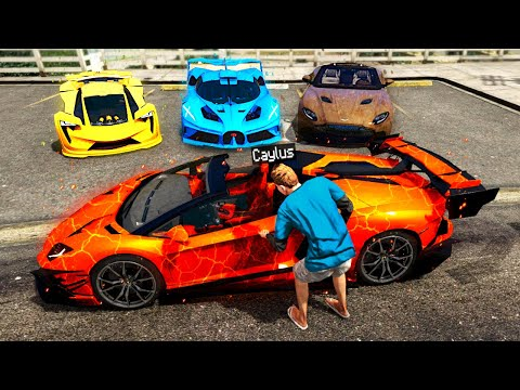 Stealing ELEMENTAL SUPERCARS In GTA 5.. (Mods)