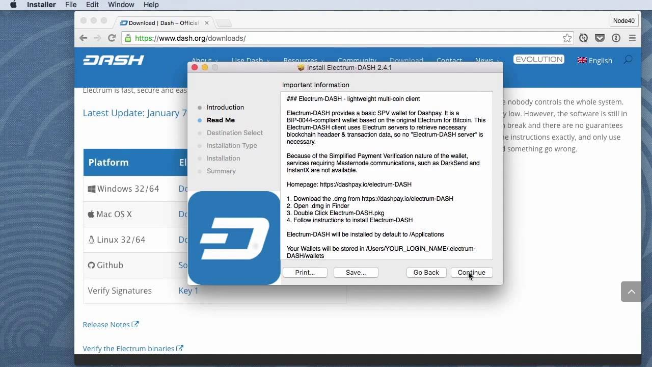How to Install Dash-Electrum Wallet on Mac