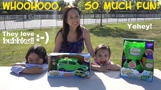 Fun Activity for Kids: Bubble Playtime with Hulyan & Maya! Gazillion Bubble Machines