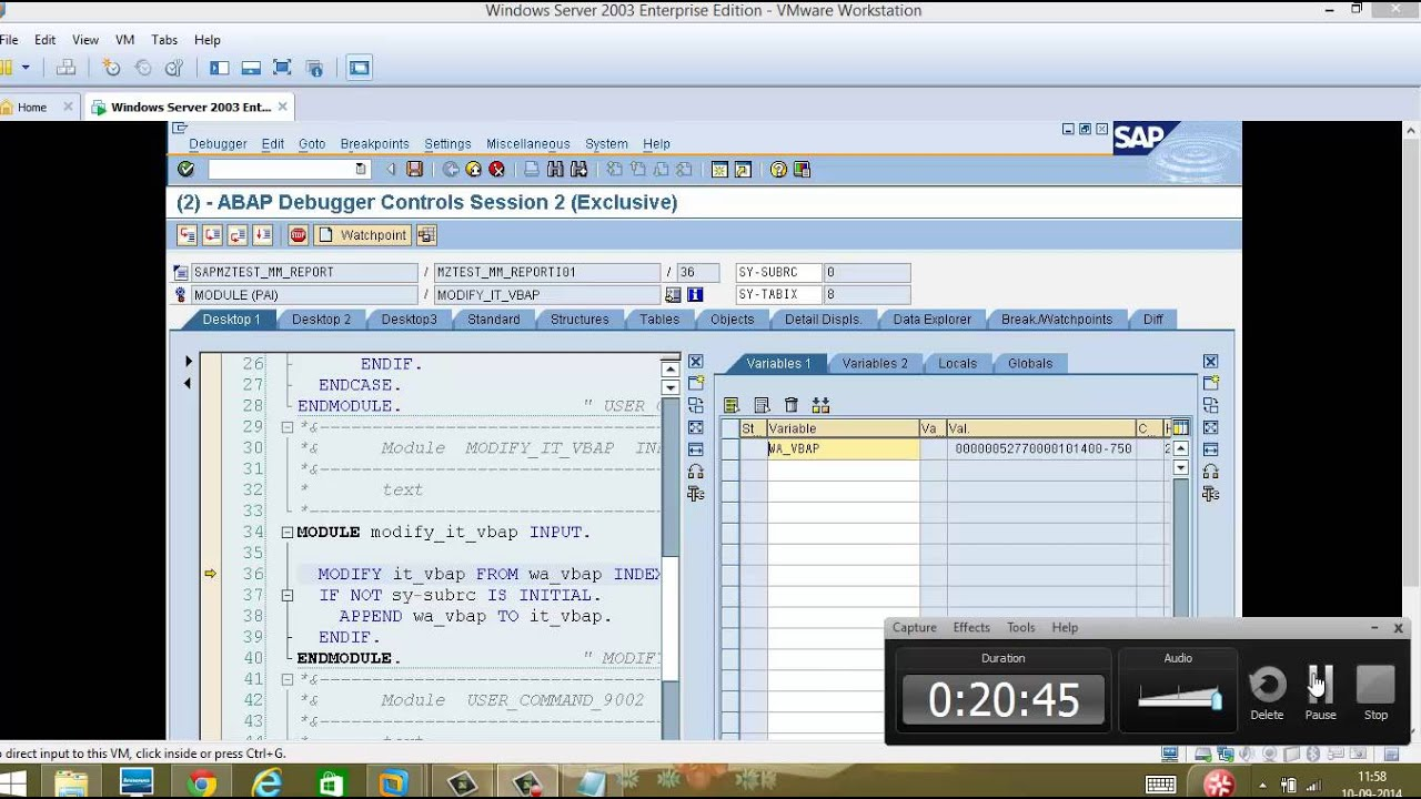 Dialog Programming Part 3-table control completed - Day 24