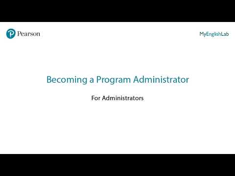 MyEnglishLab: Becoming a Program Administrator