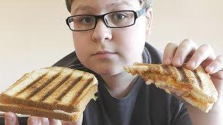 Бутерброды на ГРИЛЕ٩(̾●̮̮̃̾•̃̾)۶ЗАВТРАК ШКОЛЬНИКА