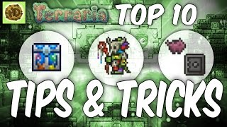 Terraria Top 10 TIPS & TRICKS | 1.3 secret guide | PC | XBOX1 | PS4