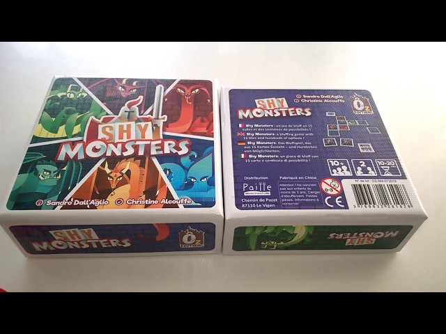 Shy Monsters - unboxing
