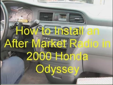 How to Install an After Market Radio in Honda Odyssey 2000 - YouTube