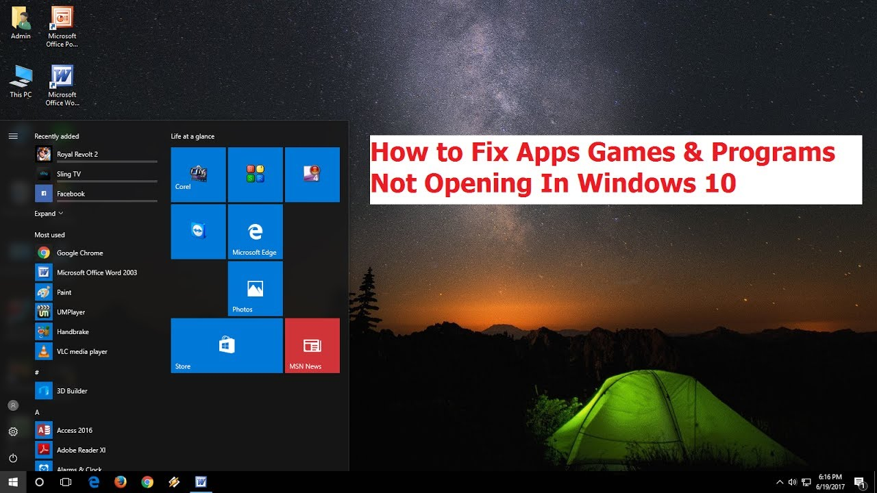 How to Fix Apps Games & Programs Not Opening In Windows 10