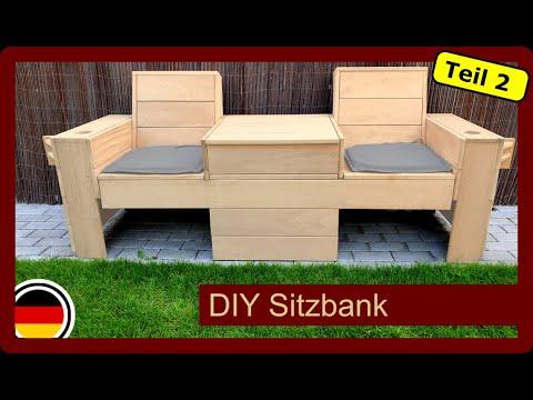 sitzbank mit klappbaren tisch f r den garten selber bauen diy gartenm bel teil2 youtube
