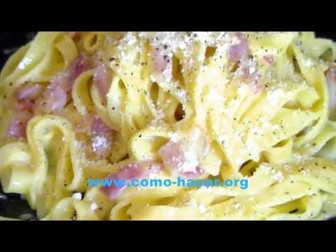 Pasta a la carbonara con nata recetas de pasta youtube - Salsas para pasta con nata ...