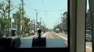 豊橋鉄道東田本線T1000前面展望(駅前→赤岩口)2009-04