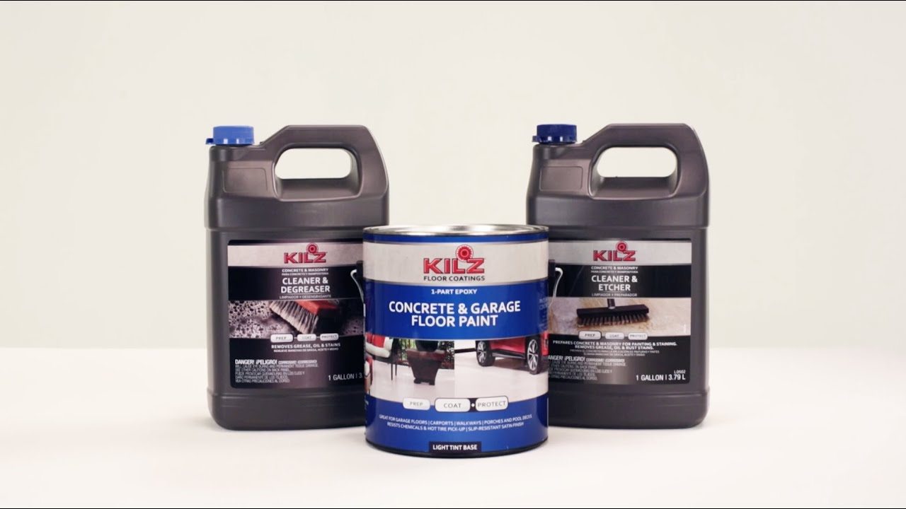 Kilz 1 Part Concrete Garage Floor Paint Carpet Vidalondon