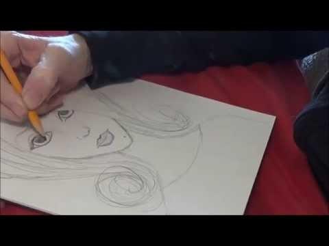 Sketching a Mixed Media Face