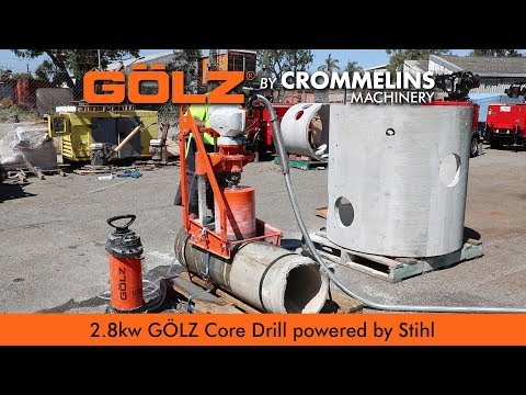 2.8kw Golz Core Drill KB350 - Sewer Pipe Drilling