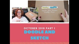 Doodle and Sketch Box October 2018 Unboxing PART 1