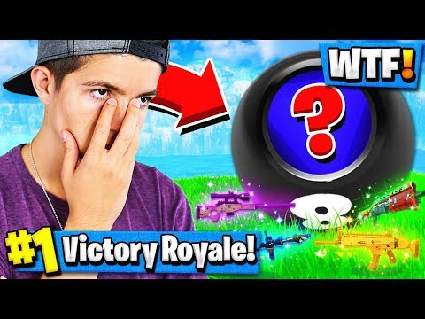 Using MAGIC 8 BALL to CHOOSE MY GUN in FORTNITE BATTLE ROYALE!