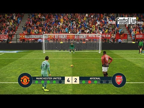 PES 2019 | MANCHESTER UNITED vs ARSENAL | Penalty Shootout | Gameplay PC