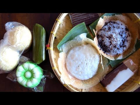 Indonesian street food taste test challenge: Eating Indonesian desserts & snacks in Solo, Indonesia