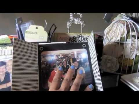 Easy Gatefold Cardstock Mini Album Tutorial Youtube