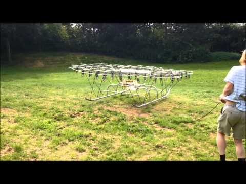 The Swarm Multirotor Flight Testing Man Rated Super Drone