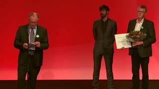 Uddeling af Sven Auken-prisen til Project Zero ved Socialdemokratiets kongres 2017