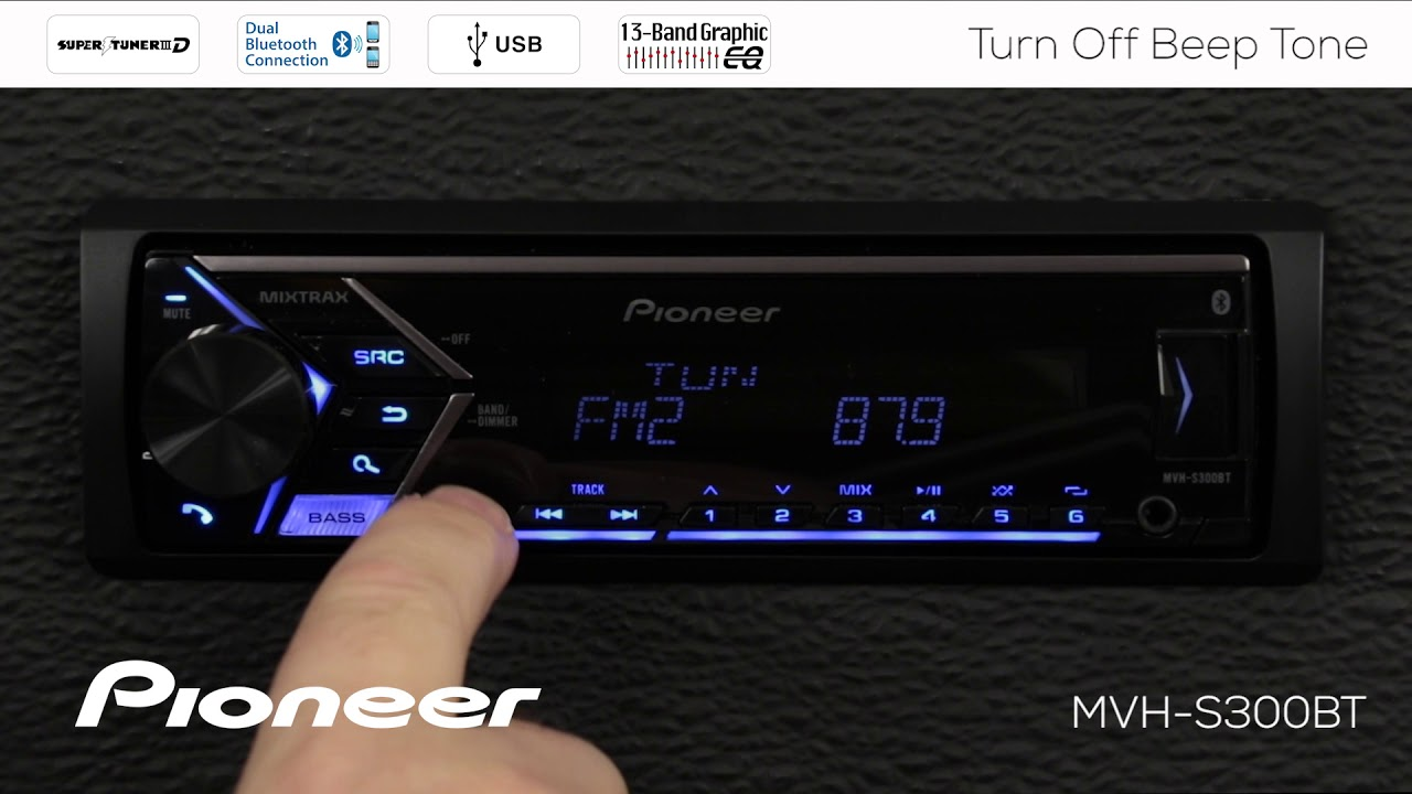 how to turn off beep tone on pioneer in dash receivers 2018 [ 1280 x 720 Pixel ]