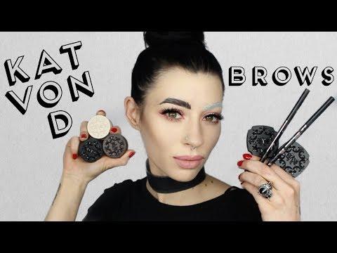 Kat Von D Super Brow, Signature Brow & Brow Struck Swatch Demo  and Review