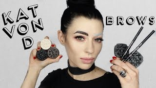Kat Von D Super Brow, Signature Brow & Brow Struck Swatch Demo  and Review